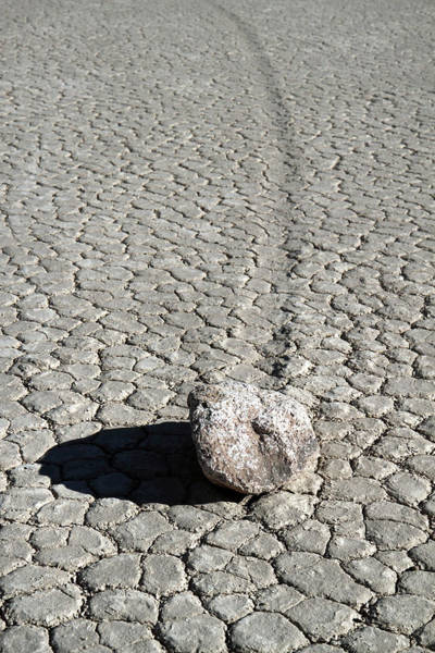 Photograph - Moving Stones At The Racetrack Of Death Valley by Pierre Leclerc Photography