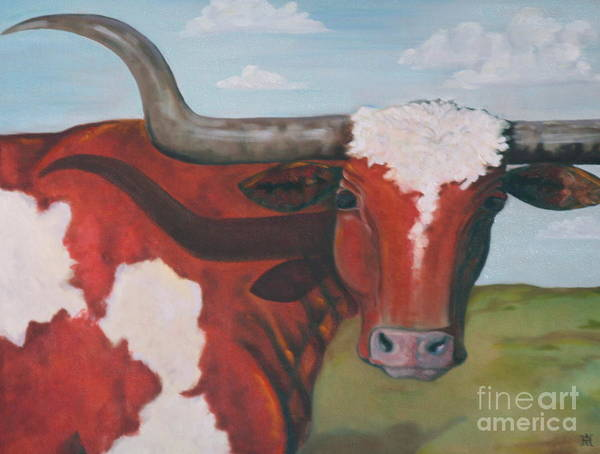 Longhorn Painting - Moving To California by Amy Higgins