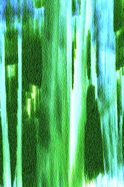 Digital Art - Moving Trees 37-02 Faux Oil by Gene Norris