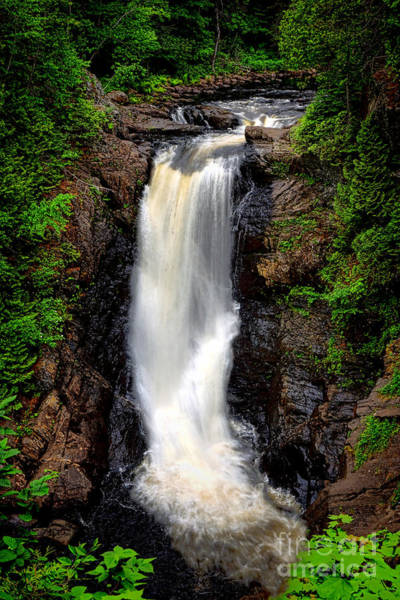 Northern Maine Wall Art - Photograph - Moxie Falls by Olivier Le Queinec
