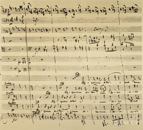 Photograph - Mozart: Requiem Excerpt by Granger