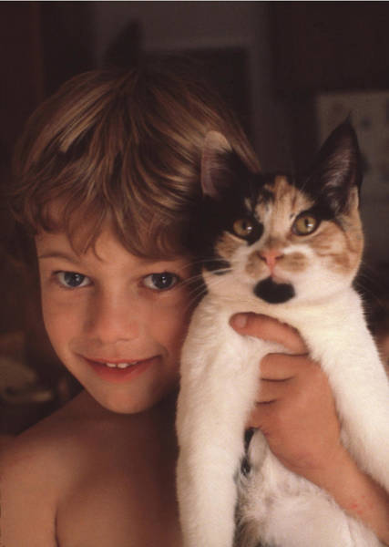 Photograph - Mp-585-a1 Son And Freckles Cat by Ed Cooper Photography