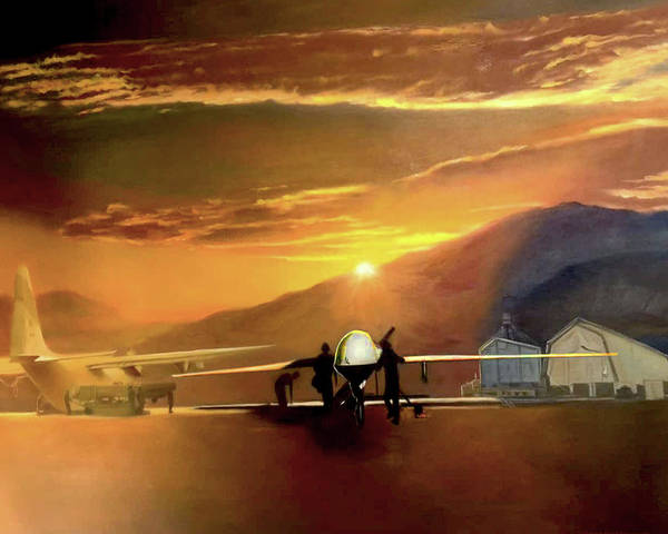 Painting - Mq-1 Predator Titled Anytime Anyplace by Todd Krasovetz