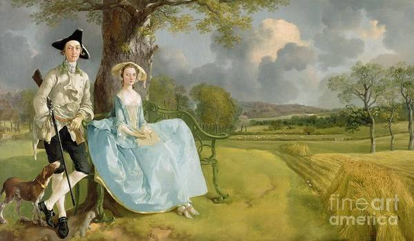 Crt Painting - Mr And Mrs Andrews by Thomas Gainsborough