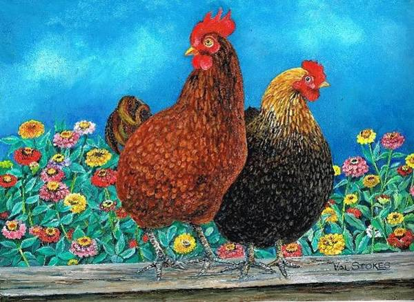 Painting - Mr And Mrs Smith by Val Stokes