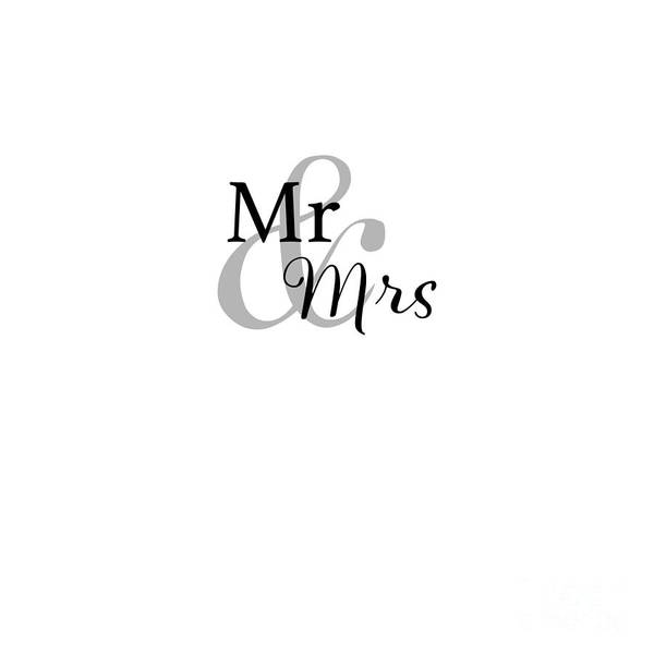 Serif Digital Art - Mr And Mrs by Terry Weaver