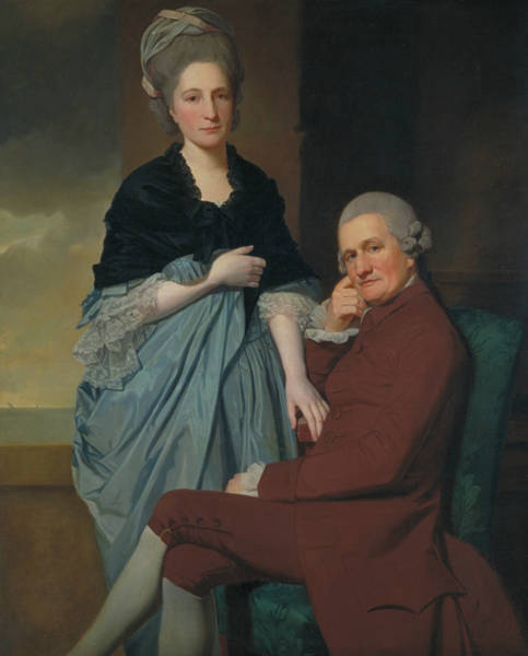 Romney Painting - Mr And Mrs William Lindow by George Romney
