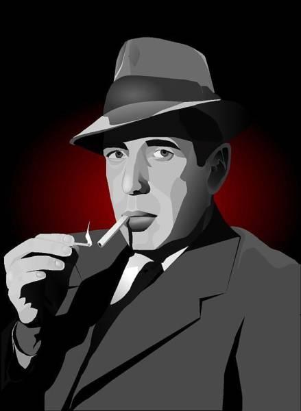 Bogart Digital Art - Mr. Bogart by Robert M