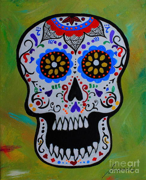 Tats Painting - Mr Calavera by Pristine Cartera Turkus