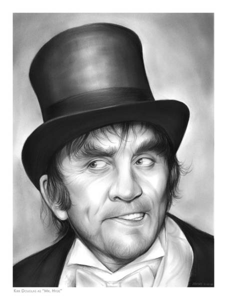 Movie Drawing - Mr Hyde by Greg Joens