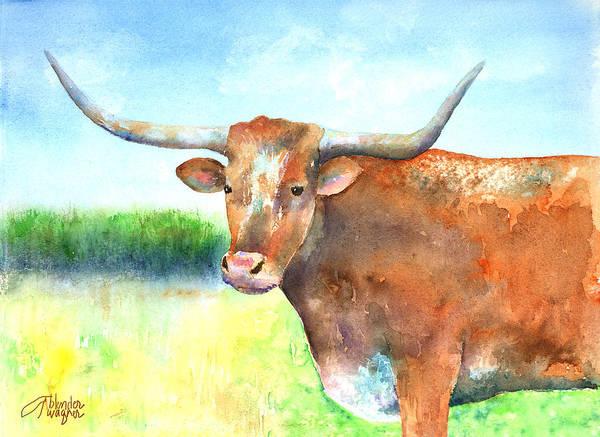 Longhorn Painting - Mr. Longhorn by Arline Wagner