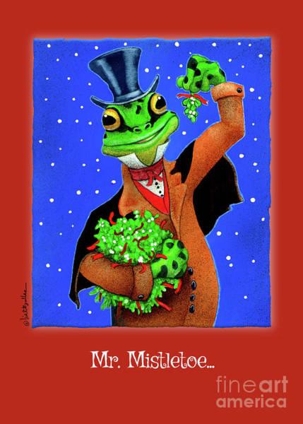 Painting - Mr. Mistletoe... by Will Bullas