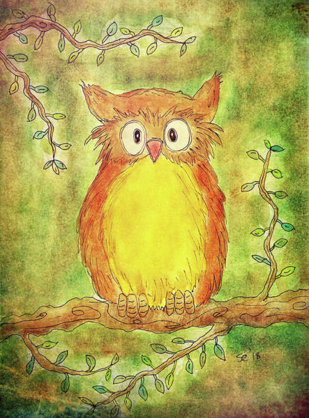 Painting - Mr. Owl by Susan Campbell