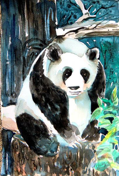 Panda Drawing Painting - Mr. Panda by Mindy Newman