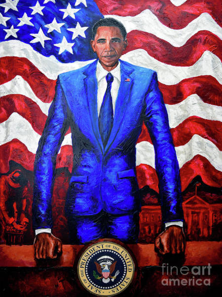 Wall Art - Painting - Mr President by The Art of DionJa'Y