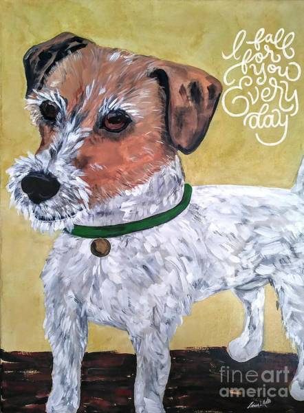 Painting - Mr. R. Terrier by Reina Resto