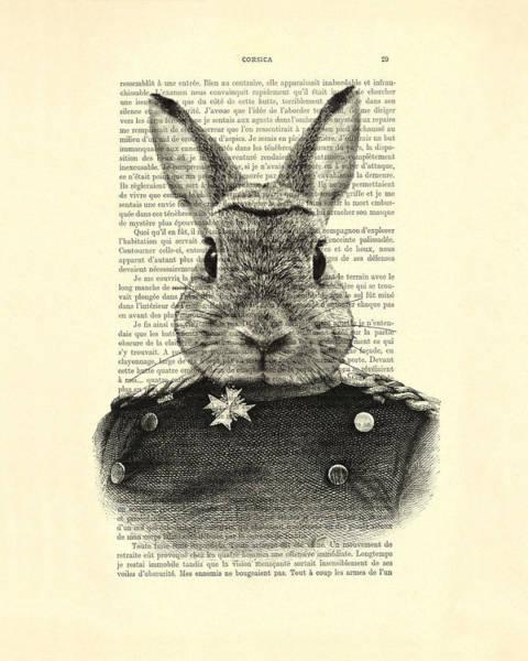 Wall Art - Digital Art - Rabbit Portrait In A Suit by Madame Memento