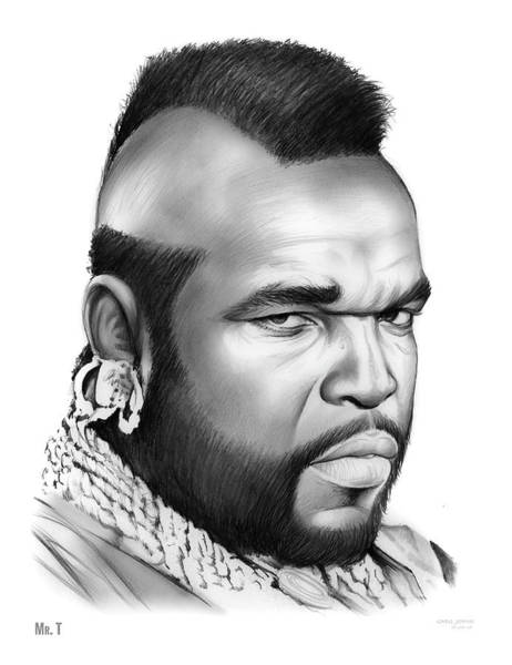 Team Wall Art - Drawing - Mr T by Greg Joens