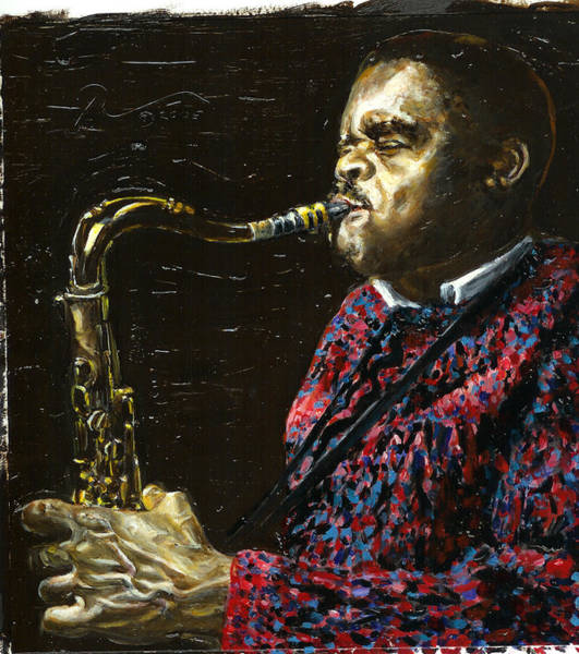 Sax Painting - Mr. T by Rudy Browne