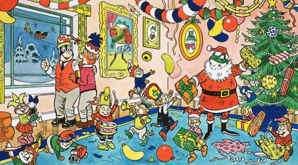 Partying Painting - Mr Toads Christmas Party by English School