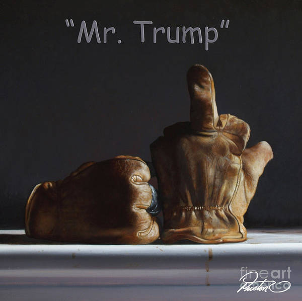 Wall Art - Painting - Mr. Trump by Lawrence Preston
