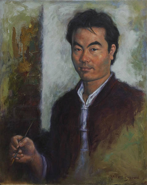 Painting - Mr Wang by Harvie Brown