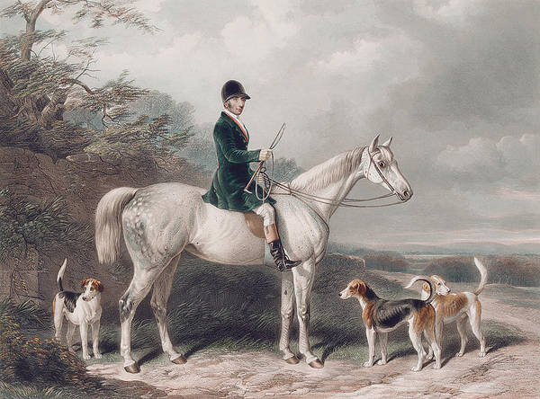 Steed Painting - Mr William Long On Bertha by W and H Barraud