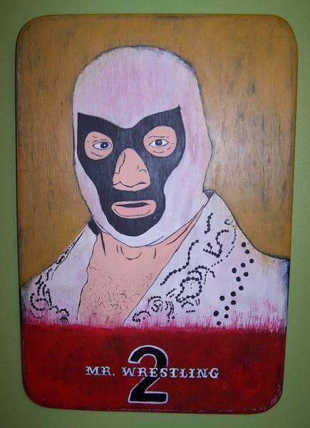 Mojo Painting - Mr. Wrestling 2 by Mojo Goat