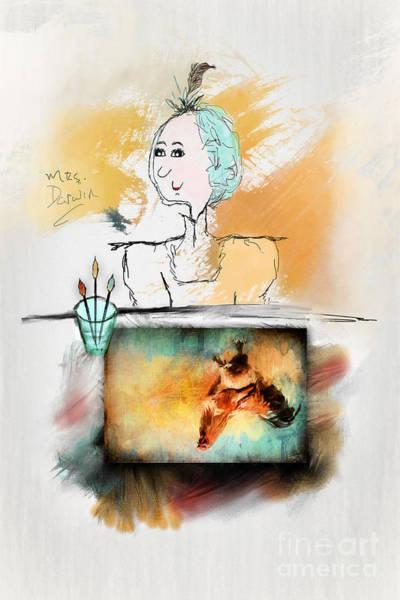 Digital Art - Mrs. Darwin's Theory Of Evolution Self Portrait  by Christina VanGinkel