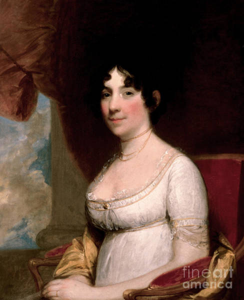 Wall Art - Painting - Mrs Dolley Madison, 1804 by Gilbert Stuart