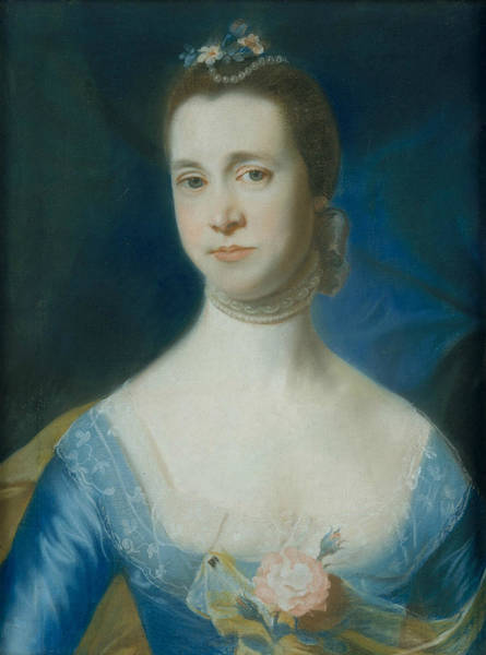 Pastel - Mrs. Edward Green  by John Singleton Copley