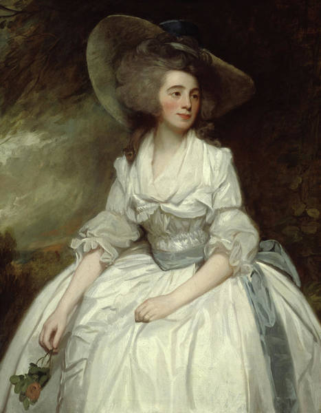 Graceful Painting - Mrs Francis Russell by George Romney