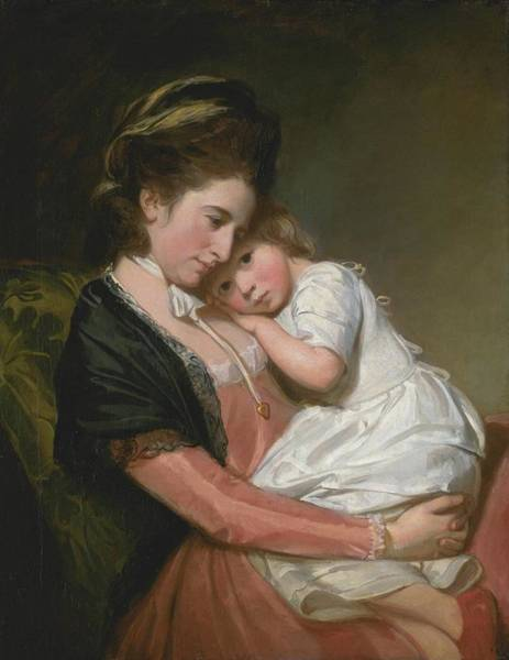 Romney Painting - Mrs Johnstone And Her Son by George Romney