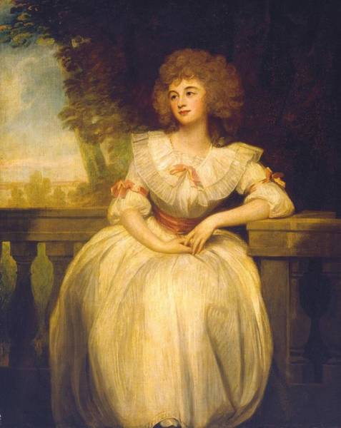 Romney Painting - Mrs Mark Currie by George Romney