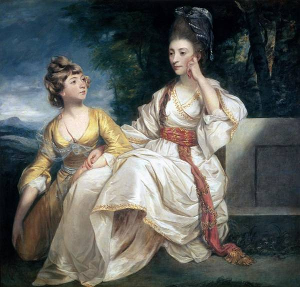 Thoughts Painting - Mrs Thrale And Her Daughter Hester by Sir Joshua Reynolds