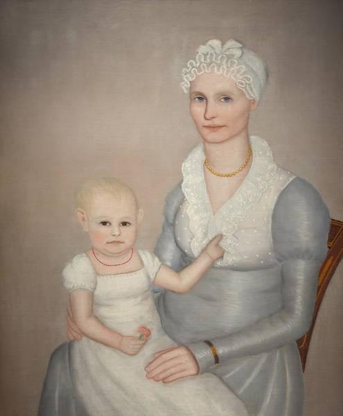Sara Painting - Mrs Wilbur Sherman And Daughter Sara by Mountain Dreams