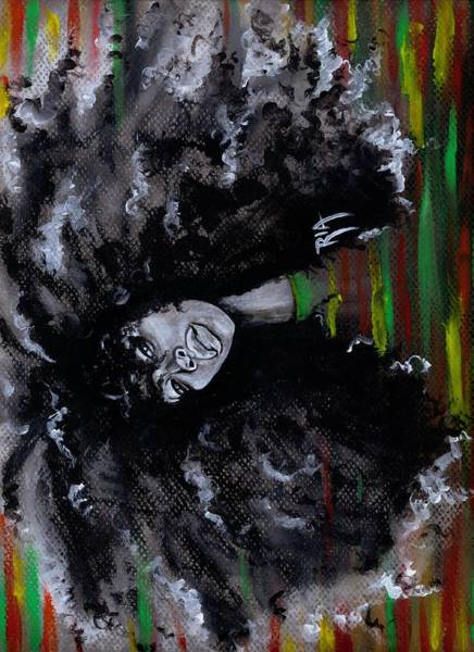 Wall Art - Painting - Ms Erykah Badu To You Fool by Artist RiA