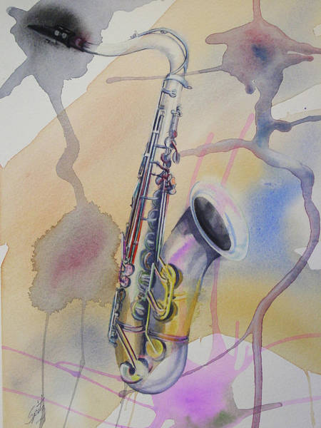 Sax Painting - Ms13 Saxophone  by Mark Spitz