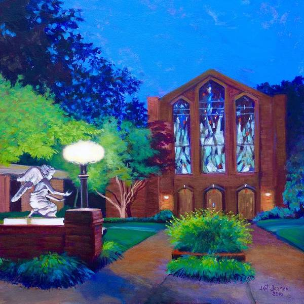 Painting - Msu Chapel Of Memories by Jeanette Jarmon