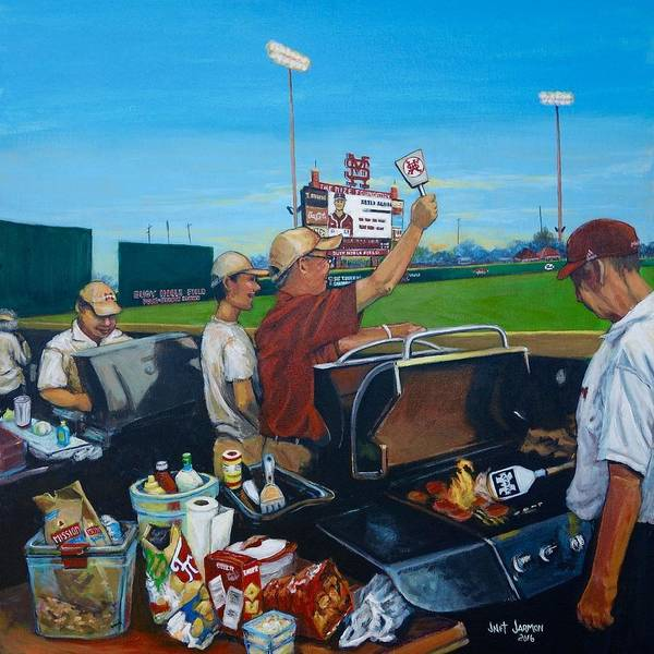 Painting - Msu Left Field Lounge by Jeanette Jarmon
