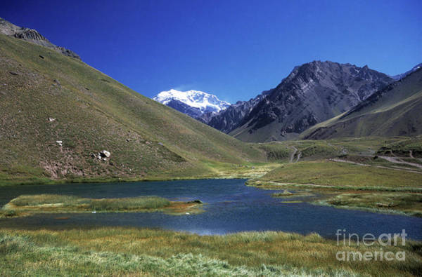 Mendoza Province Photograph - Mt Aconcagua And Laguna Horcones by James Brunker