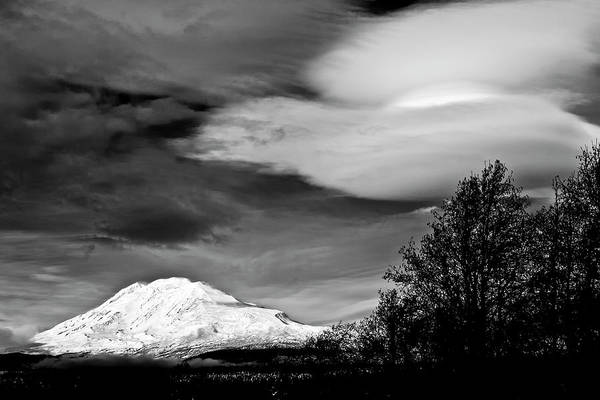 Photograph - Mt Adams With Lenticular Cloud by Albert Seger