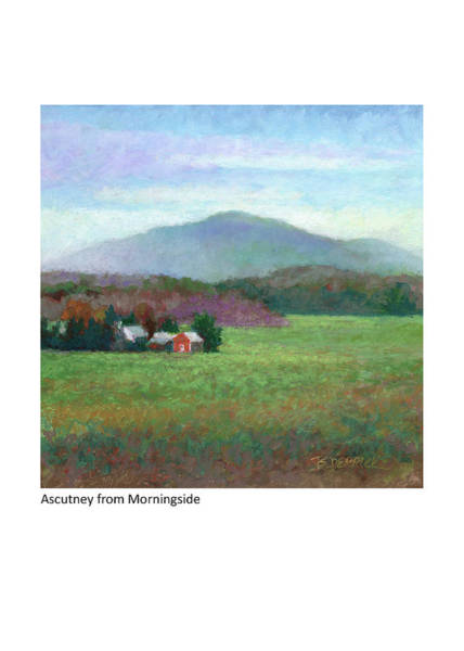 Pastel - Mt. Ascutney From Morningside by Betsy Derrick