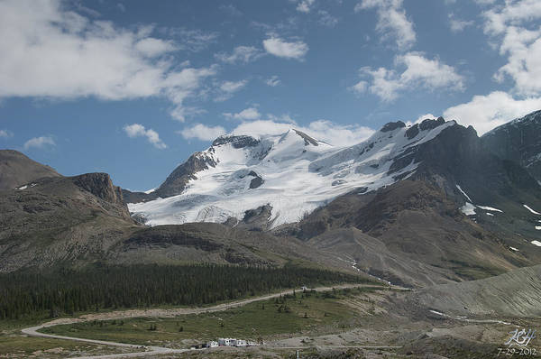 Photograph - Mt Athabasca by Kenneth Hadlock