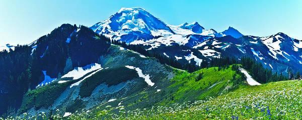 Mt. Washington Photograph - Mt Baker From The Skyline Ridge Trail by Alvin Kroon