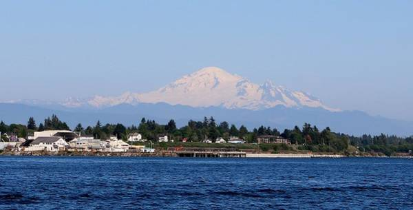 Photograph - Mt. Baker - View From The Water by Christy Pooschke