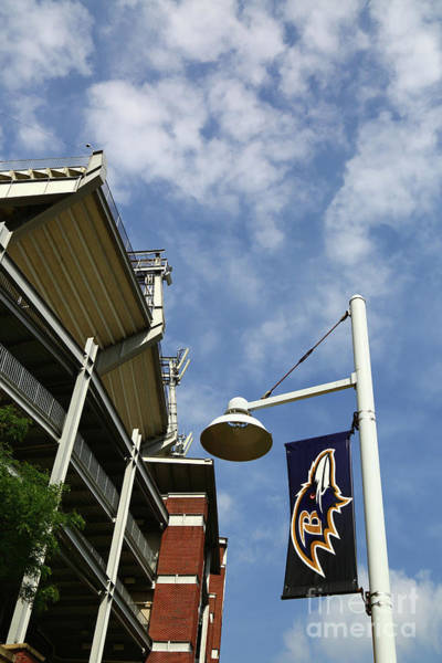 Photograph - Mt Bank Stadium Home Of The Baltimore Ravens by James Brunker