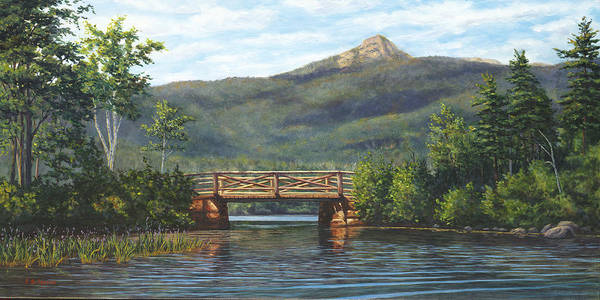 Mountain Lake Painting - Mt. Chocorua, Albany, Nh by Elaine Farmer