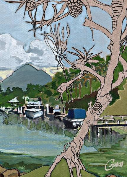 Noosa Wall Art - Painting - Mt Cooroy From Noosa Sound by Joan Cordell