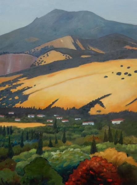 Mt. Diablo Wall Art - Painting - Mt. Diablo Above by Gary Coleman